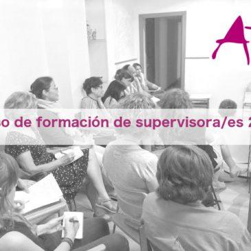 Curso de formación de supervisora/es 2019